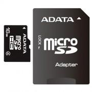 MICRO SD CARD ADATA; model: AUSDH16GCL4-RA1; capacitate: 16 GB; clasa: 4; culoare: NEGRU