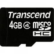 Transcend 4GB microSDHC (No Box & Adapter - Class 4) - TS4GUSDC4