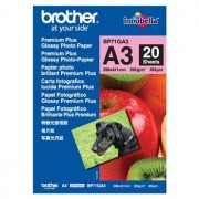 Brother BP-71GA3 Premium Glossy Paper A3, 20 Sheets, Size:297 x 420mm, Weight:260 gsm