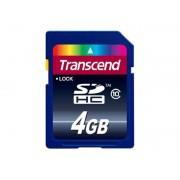 TRANSCEND SECURE DIGITAL CARD 4GB TS4GSDHC10