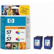 HP 57 + HP 57 Цветни глави DeskJet 450ci/5550/5552/2110/7150/7350/7550 - TWIN PACK ( C6657AE + C6657AE ) (C9503AE)