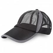 Hombres y mujeres al aire libre Sombrero de algodon Sun Shade Baseball Net - Negro