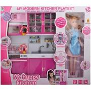 Akshata Modern Kitchen PlaySet for Kids With Doll