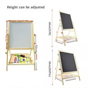 Lifemall BB Easel Chalkboard Tabletop Standing Wooden Learning Board for Kids Painting Drawing (Small-TB)
