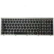 SunSea Replacement Keyboard Silver Grey Frame For Lenovo IdeaPad Flex15 G500S G505S G510S S500 S510 S510P Z510 Z510-IFI
