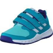 Adidas Sport Performance Fortagym Cf K Energy Blue S17/Ftwr White/Ene, Skor, Sneakers & Sportskor, Walkingskor, Turkos, Blå, Grön, Unisex, 28