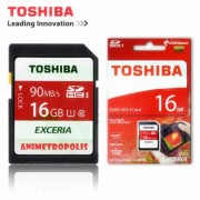 Toshiba Exceria 16GB SDHC UHS-1 Memory Card - Read Speed 90mb/s For DSLR's,Digital Cameras & Camcorders