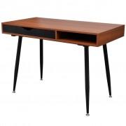 vidaXL Hnedý stôl pre laptop/pracovná stanica