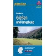 Fietskaart HES03 Bikeline Radkarte Gießen und Umgebung | Esterbauer