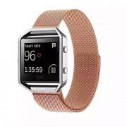 Preta / Rosa / Dourada / Prateada Metal Pulseira Estilo Milanês Para Fitbit Assistir 23 milímetros