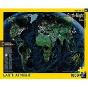 New York Puzzle Company - National Geographic Earth at Night - 1000 Piece Jigsaw Puzzle