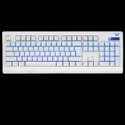 AULA demonio rey USB con cable interruptor verde teclado mecanico - blanco