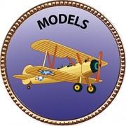 """Keepsake Awards Models Gold Award Pin """"Creative Arts and Hobbies Collection"""" 1 inch dia"""