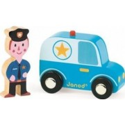Masinuta Janod My Story - Police Car and Officer