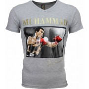 Mascherano T-shirt - Muhammad Ali Glossy Print - Grijs