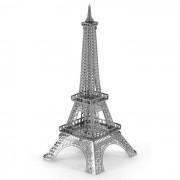 Creative 3D Laser mignons modèles métalliques Eiffel Tower Nano Puzzle Toy - Silver