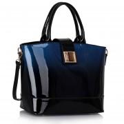 Kabelka LS fashion LS00329 - Navy Patent Two-Tone Handbag