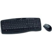Kit Tastatura cu mouse wireless Genius KB-8000X Negru