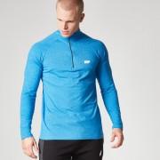 Myprotein Men's Performance Long Sleeve 1/4 Zip Top, Blue Marl, XL