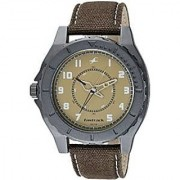 Fastrack Quartz Beige Round Men Watch 9462AL02