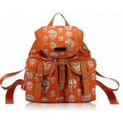 Kabelka LS00271 - Orange Skull Print Unisex Rucksack Shoulder Bag