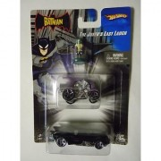 Hotwheels 1:64 Scale Batman Series The Jokers Last Laugh with Joker Mini Figure Jokers Car and Batmobile