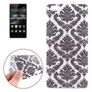 Embossed Flowers Pattern TPU Protective Case for Huawei P8
