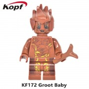 Single Sale Super Heroes Star Wars Guardians of The Galaxy Groot Tree Man Bricks Action Building Blocks Toys for children KF172
