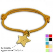Bransoletka Marbell kolor do wyboru + Gwiazdka ze srebra pr. 925 z grawerem