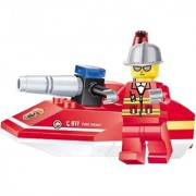 Magideal Fire Rescue Minifigures Fire Boats/Ships Building Blocks Kid Educational Toy