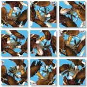 B Dazzle Bald Eagles Scramble Squares 9 Piece Puzzle