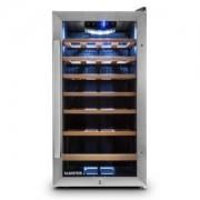 Klarstein VIVO Vino 26, 88 литра, охладител за вино, 26 бутилки, от неръждаема стомана, LED