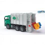 Bruder man tga trasporto rifiuti a carico posteriore colore verde 2764