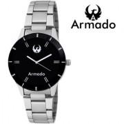 Armado AR-092 Silver Black Elegant Modern Corporate Collection Analog Watch