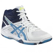 asics Herren-Volleyballschuh GEL-TASK MT - white/blue jewel/safety yel