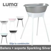 Bañera con soporte Luma Sparkling Silver elige tu combinación