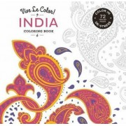 Vive le Color! India (Coloring Book) by Marabout