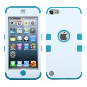 Funda Protector Mixto Apple Ipod Touch 5G Blanco / Aqua Triple Layer