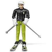 Bruder Skier with Accessories Toy Figure