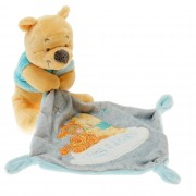 Doudou Ours Winnie Jaune Bleu Gris Mouchoir Tigre Tigrou Hugs & Wishes Nuage Blanc Peluche Bebe The Pooh And Tigger Comforter Blanket Security