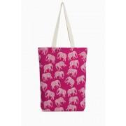 Womens Next Elephant Print Shopper - Pink