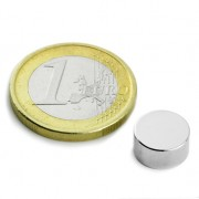 Magnet neodim disc, diametru 10 mm, diametral, putere 1 kg