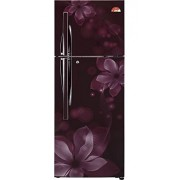 LG 260 L 4 Star Frost-Free Double Door Refrigerator (GL-U292JSOL, Scarlet Orchid)