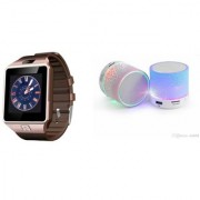 CLONEBEATZ Music Mini Bluetooth Speaker(S10 Speaker) And DZ09 Smart Watch for ASUS ZENFONE ZOOM