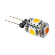 1W G4 Lâmpadas Espiga T 5 SMD 5050 70 lm Branco Quente DC 12 V