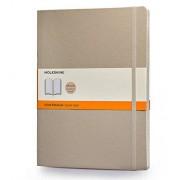 Moleskine Classic Colored Notebook, Extra Large, Ruled, Khaki Beige, Soft Cover (7.5 x 9.75)