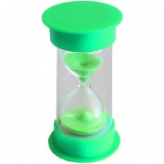 MagiDeal 15 Minutos Reloj De Arena Tapa Verde Y Arena