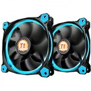 Thermaltake RIING 120mm Blue LED Ultra Quiet High Airflow Computer Case Fan Twin Pack CL-F047-PL12BU-A