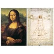 Puzzle Educa Leonardo da Vinci, 2x1000 buc.
