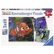 Puzzle In Cautarea Lui Nemo, 3X49 Piese